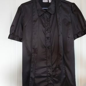 Satin blouse with neck tie/hang